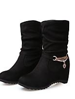 Zapatos de mujer - Tacón Bajo - Botas a la Moda - Botas - Exterior / Vestido / Casual - Semicuero - Negro / Azul / Rojo