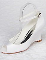 Women's Shoes Satin Stiletto Heel Wedges / Peep Toe Sandals Wedding / Office & Career / Party & Evening / Dress