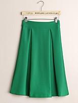 Fashion Women's Autumn Winter Thicken Space Cotton Retro High Waist Skirt Party / Work / OL Skirts