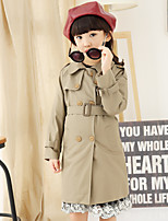 Trench Fille de Hiver / Automne Polyester Jaune