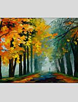 pinturas a óleo paisagem moderna rua das chuvas material de lona com maca de madeira pronta para pendurar tamanho: 60 * 90 centímetros.
