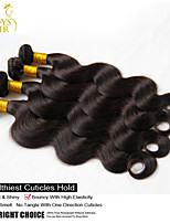 5 pc dividono capelli vergini brasiliani dell'onda del corpo di 100% capelli umani del tessuto ondulato economici estensioni remy