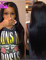 Peruvian Virgin Human Hair Lace Front Wigs with Middle part 130 Density Straight Human Hair Wigs For Africa Women