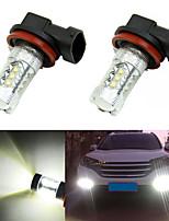 2Pcs Super Bright White 80W High Power LED 1600LM H8  Fog Driving Light Lamp