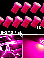 10X Purple/Pink T10 Wedge Side 8-SMD LED Dome Map Light W5W 2825 158 192 168 194