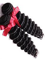 Brazilian Hair Deep Wave Virgin Hair Extensions Brazilian Human Hair Deep Wave 7A Natural Color 2 pcs/lot 100g/pc Weave