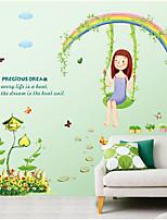 Botanical / Cartoon / Still Life / People Wall Stickers Plane Wall Stickers , PVC 50cm*70cm