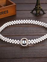 Women Others Flower Simple Elegant Skinny Belt , Party / Casual Imitation Pearl