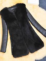 Women's Fashion Faux Fur Warmth Long Sleeve Coat