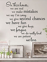 Words & Quotes Wall Stickers Plane Wall Stickers , PVC 60cm*29cm