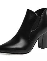 Chaussures Femme - Décontracté - Noir - Gros Talon - Bout Pointu - Bottes - Similicuir