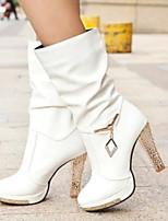 Women's Shoes Glegant Temperament All Match Stiletto Heel Comfort Boots Casual Black / White / Beige