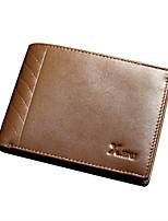 Tri-fold (tre scomparti) - Portafoglio / Porta carte di credito / Portamonete - Uomo - Vacchetta - Marrone