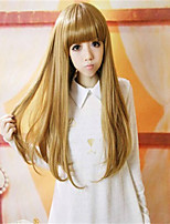 High Temperature Resistance 14 Inch Long Straight Hairpiece Extension flaxen Colors Available