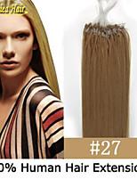 de promoción de la alta calidad 100pcs / set 100g bolas de pelo del anillo micro loop fácil virginal del pelo humano del bucle de pelo 18