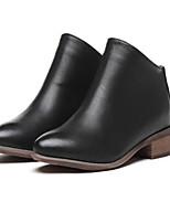 Women's Shoes  Chunky Heel Round Toe Boots Casual Black / Khaki