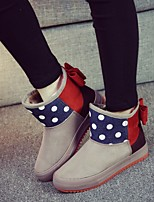 Women's Shoes Canvas Platform Snow Boots / Fashion Boots Boots Outdoor / Casual Black / Blue / Brown / Red /Camel