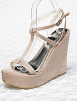 Women's Shoes Linen Platform Creepers Sandals Wedding / Office & Career / Party & Evening / Dress / Casual Bone