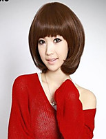 Short Curly Hair Synthetic Full Bang Wigs 2 Colors Available