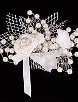 Imitatie Parel / Polyester Vrouwen / Bloemenmeisje Helm Bruiloft / Speciale gelegenheden Haarkammen / BloemenBruiloft / Speciale
