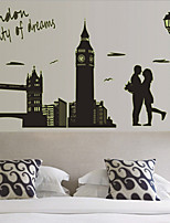 Architecture / Romance / People Wall Stickers Plane Wall Stickers , PVC 60cm*90cm