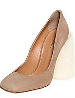 Women's Shoes Suede Chunky Heel Heels Heels Office & Career / Party & Evening / Dress Black / Khaki