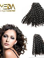 3pcs / lot não transformados virgens onda cabelo peruano extensões de cabelo humano natural preto 8 '' - 30 '' cabelo tece