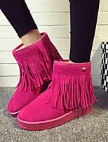 Women's Shoes Round Toe Flat Heel Mid-Calf Boots More Colors Available