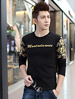 New winter men more urban fashion printing cultivate one's morality and flocking thermal underwear