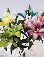 Silk / Plastic Lilies Artificial Flowers 1pcs/set