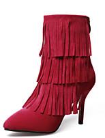 Women's Shoes Stiletto Heel Heels Boots Outdoor Black / Red
