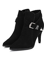 Zapatos de mujer - Tacón Stiletto - Botas a la Moda - Botas - Vestido / Casual - Ante - Negro / Marrón