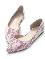 Women's Shoes Tulle Flat Heel Pointed Toe Flats Casual Pink / Gold