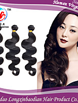 Three Bundles 6A High Quality Body Wave Durable Natural Color 100%  Briazilian Remy Human Hair Weft
