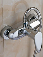Polished Chrome Finish New Wall Mounted Waterfall Bathroom Bathtub Handheld Shower Tap Mixer Faucet