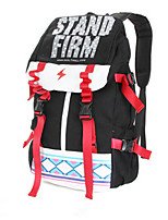 Women PU / Canvas Baguette Backpack - Blue / Red / Gray / Black