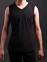 Latin Dance Tops Men's Training Spandex Pleated 1 Piece Black