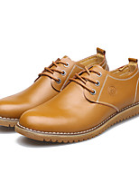 Men's Shoes Outdoor / Office & Career Leather Oxfords Black / Brown / Yellow