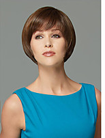 Europe and the United States Short Mix Color Straight Synthetic Wig Side Bang