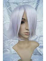 Lanting cos pandora hearts blake luz púrpura corta cosplay del anime del partido peluca de pelo