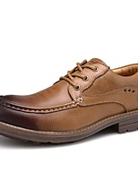 Men's Shoes Wedding / Outdoor / Office & Career / Party & Evening / Athletic / Casual Leather Oxfords Black / Brown