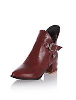 Chaussures Femme - Habillé / Décontracté / Soirée & Evénement - Noir / Marron / Jaune / Rouge - Gros Talon -Bout Pointu / Bottes à la