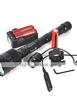 Torce LED (Impermeabili / Ricaricabile / Resistente agli urti /  Strike Bezel / Tattico / Emergenza) - LED 5 Modo 4800 Lumens 18650Cree