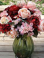 European Reunion Rosein Silk Cloth Artificial Flower for Home Decoration(5Piece)