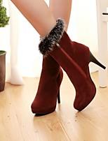 Women's Shoes Leatherette Stiletto Heel Heels / Combat Boots / Styles / Round Toe / Office & Career / CasualBlack /