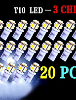 20 PCS White T10 5-SMD 5050 LED 6000K INTERIOR Light bulbs W5W 2825 158 192 168