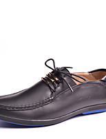 Men's Shoes Outdoor / Office & Career / Casual Leather Oxfords Black / Blue