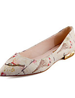 Women's Shoes Leatherette Flat Heel Ballerina / Pointed Toe / Closed Toe Flats Outdoor / Office & Career / Casual Beige