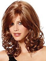 Modern Trendy Curly  Human Virgin Remy 1 inch Monofilament Top Hair Woman's Capless Wig