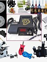 2 Guns Tattoo Machine Kit Digital Power Supply Needles Tips Inks Complete Set For Beginner Pro